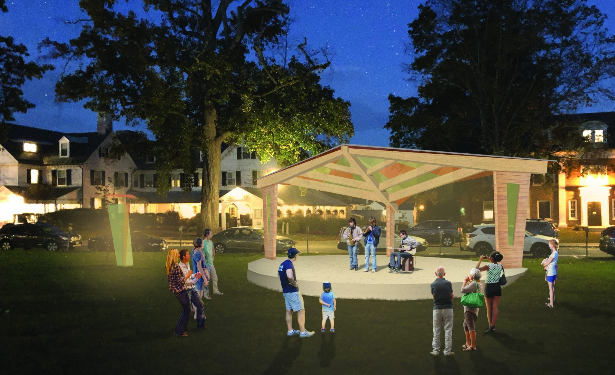 Amherst Bandshell Night Rendering